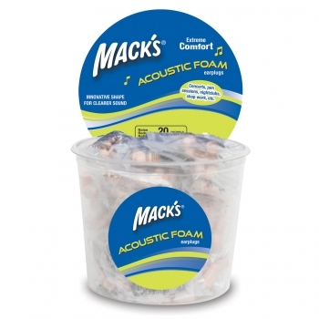 Mack's Acoustic Foam Earplugs - 100 Pair Tub