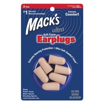 Mack's Ultra 32DB Soft Foam Plugs - 3 Pair Pack